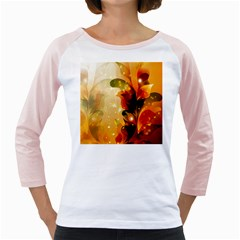 Awesome Colorful, Glowing Leaves  Girly Raglans