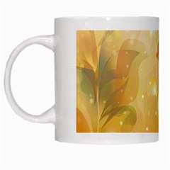 Awesome Colorful, Glowing Leaves  White Mugs