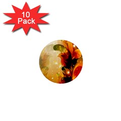 Awesome Colorful, Glowing Leaves  1  Mini Magnet (10 pack)