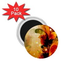 Awesome Colorful, Glowing Leaves  1.75  Magnets (10 pack)