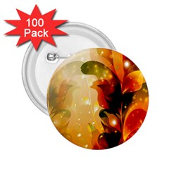Awesome Colorful, Glowing Leaves  2.25  Buttons (100 pack)