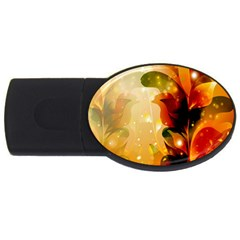 Awesome Colorful, Glowing Leaves  USB Flash Drive Oval (2 GB)