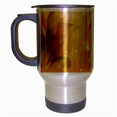 Awesome Colorful, Glowing Leaves  Travel Mug (Silver Gray)
