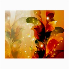 Awesome Colorful, Glowing Leaves  Small Glasses Cloth