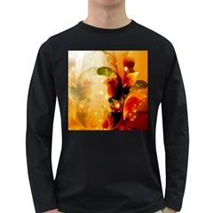 Awesome Colorful, Glowing Leaves  Long Sleeve Dark T Shirts