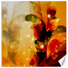 Awesome Colorful, Glowing Leaves  Canvas 12  x 12