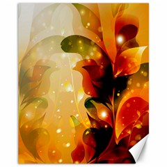 Awesome Colorful, Glowing Leaves  Canvas 11  x 14
