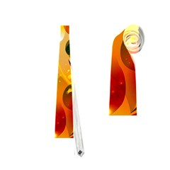 Awesome Colorful, Glowing Leaves  Neckties (two Side)