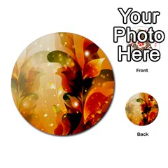 Awesome Colorful, Glowing Leaves  Multi-purpose Cards (Round)