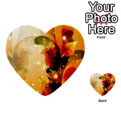 Awesome Colorful, Glowing Leaves  Multi Purpose Cards (heart)