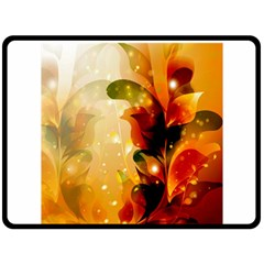 Awesome Colorful, Glowing Leaves  Fleece Blanket (Large)