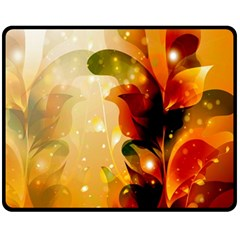 Awesome Colorful, Glowing Leaves  Fleece Blanket (Medium)