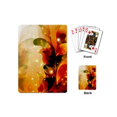 Awesome Colorful, Glowing Leaves  Playing Cards (Mini)