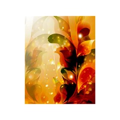 Awesome Colorful, Glowing Leaves  Shower Curtain 48  x 72  (Small)