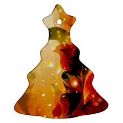 Awesome Colorful, Glowing Leaves  Ornament (Christmas Tree)