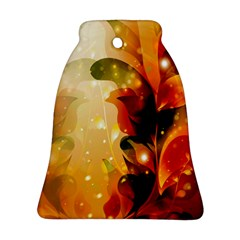Awesome Colorful, Glowing Leaves  Bell Ornament (2 Sides)