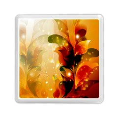 Awesome Colorful, Glowing Leaves  Memory Card Reader (Square)