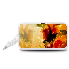 Awesome Colorful, Glowing Leaves  Portable Speaker (White)