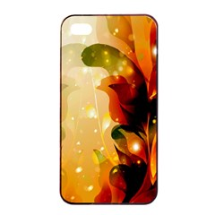 Awesome Colorful, Glowing Leaves  Apple Iphone 4/4s Seamless Case (black)