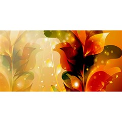 Awesome Colorful, Glowing Leaves  You Are Invited 3d Greeting Card (8x4)