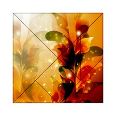 Awesome Colorful, Glowing Leaves  Acrylic Tangram Puzzle (6  x 6 )