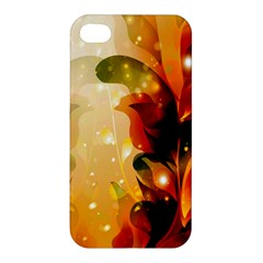 Awesome Colorful, Glowing Leaves  Apple iPhone 4/4S Premium Hardshell Case