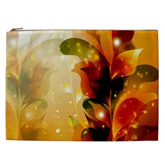 Awesome Colorful, Glowing Leaves  Cosmetic Bag (XXL)