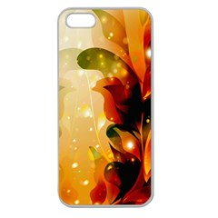 Awesome Colorful, Glowing Leaves  Apple Seamless iPhone 5 Case (Clear)