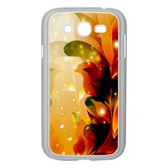 Awesome Colorful, Glowing Leaves  Samsung Galaxy Grand DUOS I9082 Case (White)