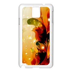 Awesome Colorful, Glowing Leaves  Samsung Galaxy Note 3 N9005 Case (White)