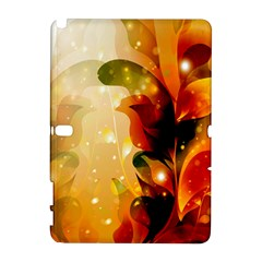Awesome Colorful, Glowing Leaves  Samsung Galaxy Note 10 1 (p600) Hardshell Case