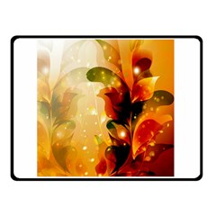 Awesome Colorful, Glowing Leaves  Double Sided Fleece Blanket (small)