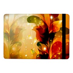 Awesome Colorful, Glowing Leaves  Samsung Galaxy Tab Pro 10 1  Flip Case