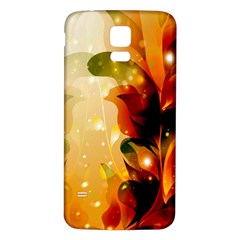 Awesome Colorful, Glowing Leaves  Samsung Galaxy S5 Back Case (White)