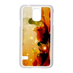 Awesome Colorful, Glowing Leaves  Samsung Galaxy S5 Case (White)