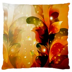 Awesome Colorful, Glowing Leaves  Large Flano Cushion Cases (Two Sides)