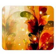 Awesome Colorful, Glowing Leaves  Double Sided Flano Blanket (small)