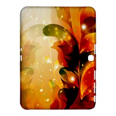 Awesome Colorful, Glowing Leaves  Samsung Galaxy Tab 4 (10.1 ) Hardshell Case