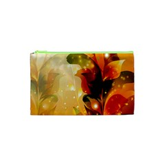 Awesome Colorful, Glowing Leaves  Cosmetic Bag (XS)