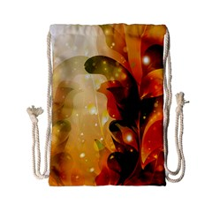 Awesome Colorful, Glowing Leaves  Drawstring Bag (Small)