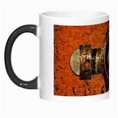 Wonderful Golden Clef On A Button With Floral Elements Morph Mugs