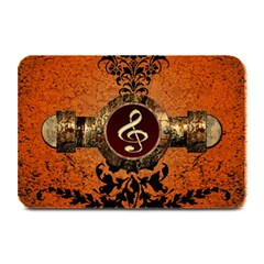 Wonderful Golden Clef On A Button With Floral Elements Plate Mats