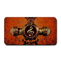 Wonderful Golden Clef On A Button With Floral Elements Medium Bar Mats