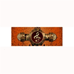 Wonderful Golden Clef On A Button With Floral Elements Large Bar Mats