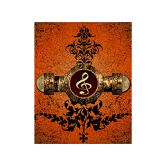 Wonderful Golden Clef On A Button With Floral Elements Shower Curtain 48  X 72  (small)