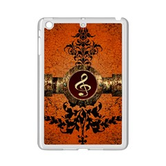 Wonderful Golden Clef On A Button With Floral Elements iPad Mini 2 Enamel Coated Cases