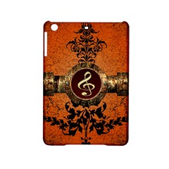 Wonderful Golden Clef On A Button With Floral Elements Ipad Mini 2 Hardshell Cases