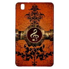 Wonderful Golden Clef On A Button With Floral Elements Samsung Galaxy Tab Pro 8.4 Hardshell Case