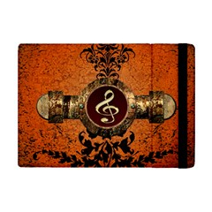 Wonderful Golden Clef On A Button With Floral Elements iPad Mini 2 Flip Cases