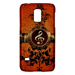 Wonderful Golden Clef On A Button With Floral Elements Galaxy S5 Mini